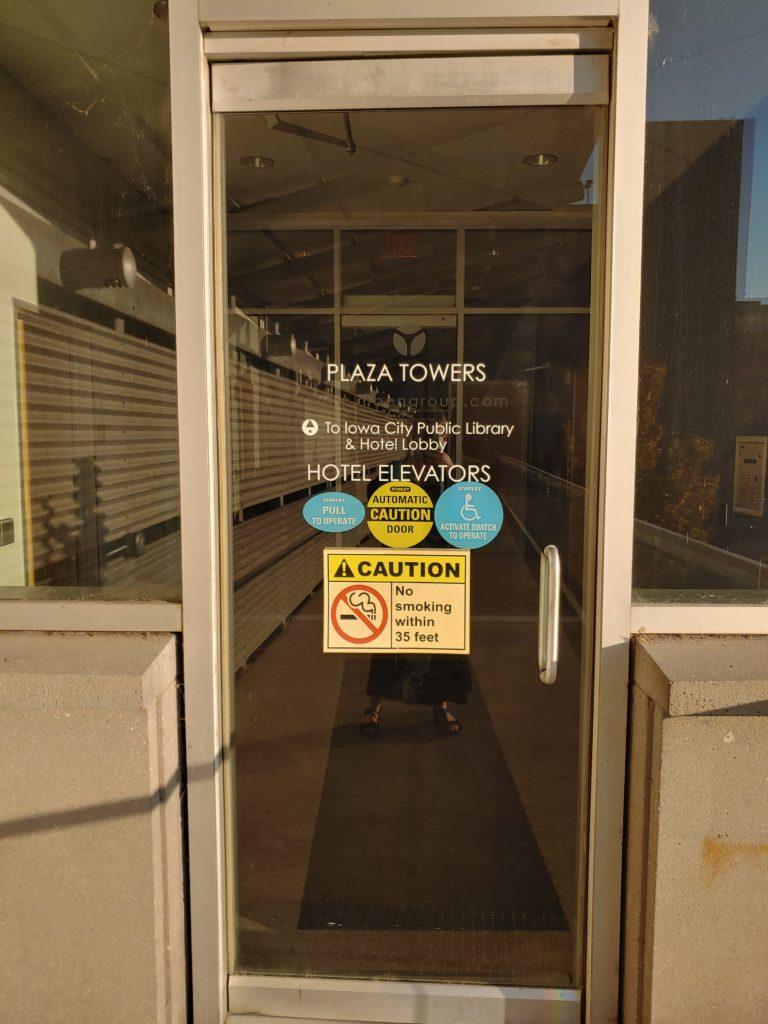 Plaza Towers door to Eastwind